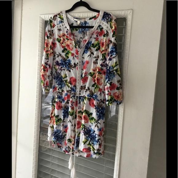 98cd4505b31 Chelsea   Violet Dresses   Skirts - Cute Floral Romper Tassels Chelsea    Violet ...